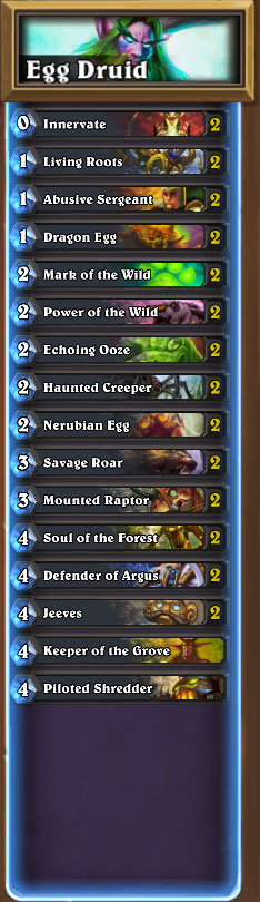 Egg Druid LIst
