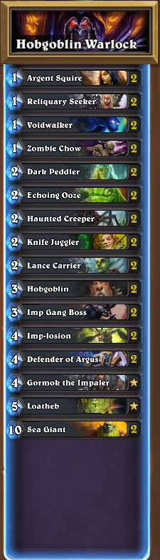 Hobgoblin Warlock Deck List